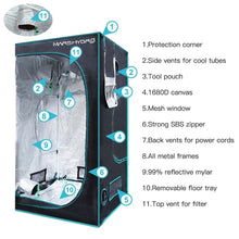 "Load image into Gallery viewer, Trendygrower.com- Mars Hydro 1680D Indoor Grow Tent 3′3"" x 3'3"" x 6'"