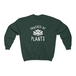 Powered by Plants - Unisex Crewneck Sweatshirt