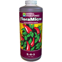 Load image into Gallery viewer, Trendygrower.com - General Hydroponics - Flora Micro organic nutrients 1qrt