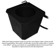 Load image into Gallery viewer, Trendygrower.com - SuperCloset BubbleFlow Bucket 6 Site DWC System