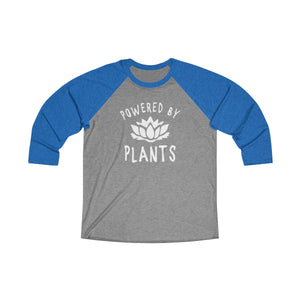 Powered by Plants - T-Shirt Unisex Tri-Color  3/4th