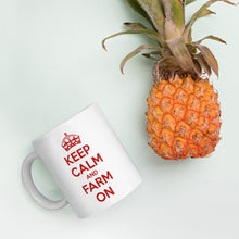 Load image into Gallery viewer, Keep Calm and Farm On Coffee Mug