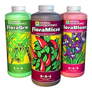 Trendygrower.com - General Hydroponics - Flora Grow, Micro, Bloom sets