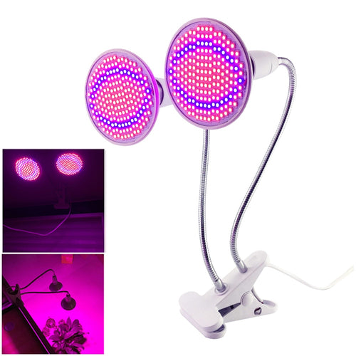 Dual 200w LED  Grow Light with Desktop Clip Holder