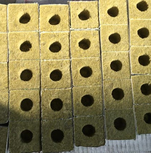 Rockwool grow cubes for hydroponics and aeroponics