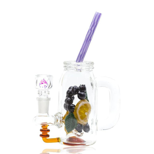 Empire Glassworks Blueberry Detox Mini Rig Water Pipe - Join Club Lifted