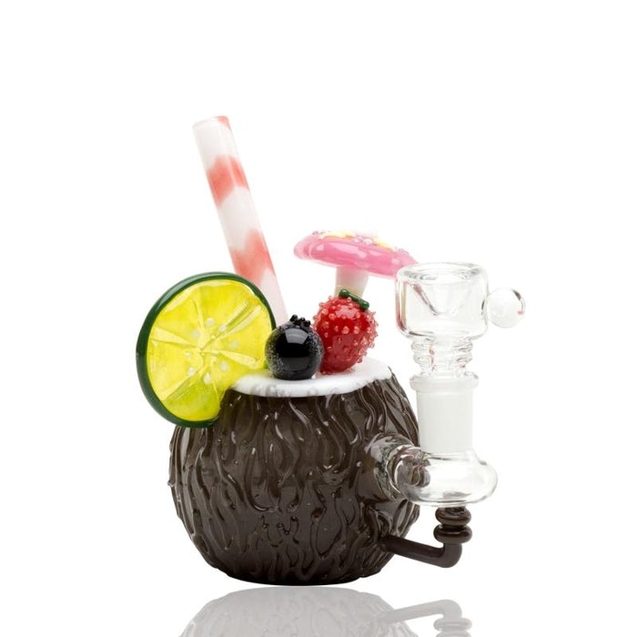 Empire Glassworks Coconut Colada Mini Rig Water Pipe - Join Club Lifted