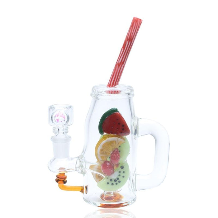 Empire Glassworks Watermelon & Orange Detox Mini Rig Water Pipe - Join Club Lifted