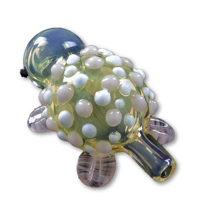 Glassheads Fumed Turtle with Colored Glass Marbles - Join Club Lifted