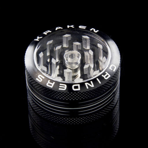 "Kraken 1.5"" 2-part Grinder with Clear Top and Push-up Bottom - Join Club Lifted"