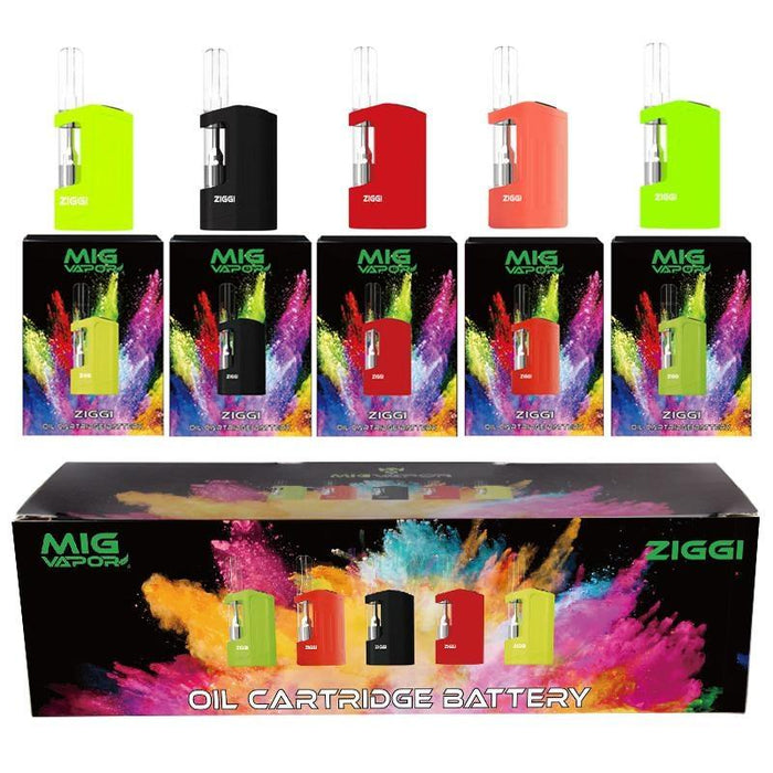 MiG Vapor ZIGGI 3-Temperature Vape Pen Battery for Pre-Filled 510 Cartridges - Join Club Lifted