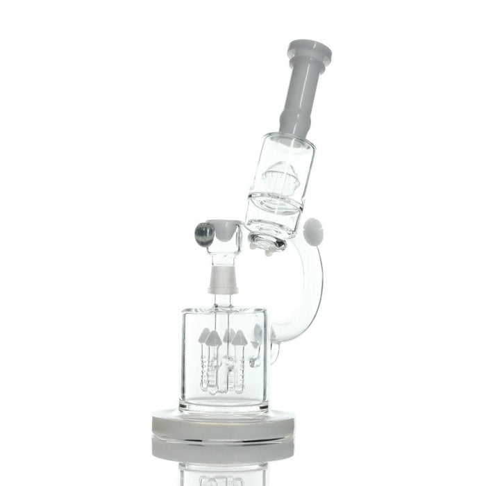 """The Dabberscope"" Microscope Themed Rig with Slitted Rocket Perc - Join Club Lifted"