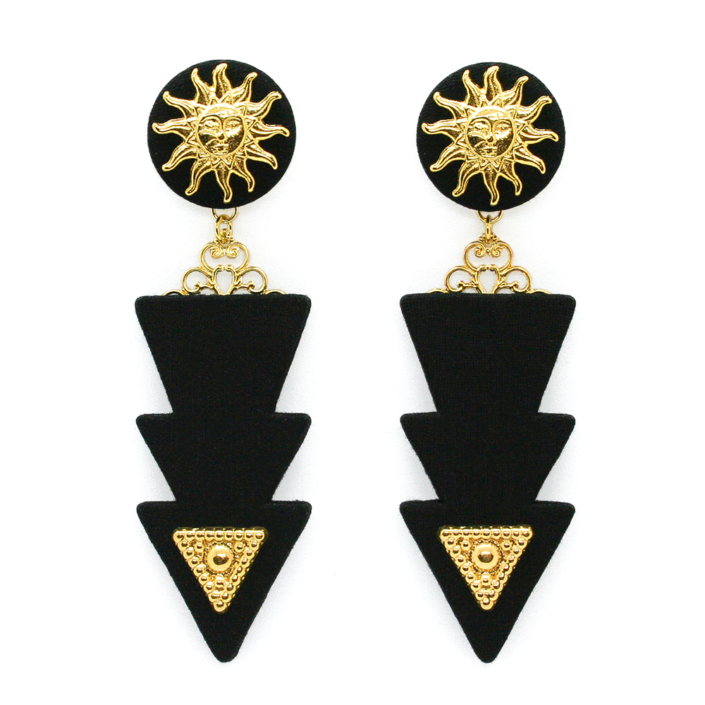 Black Lightning Earrings