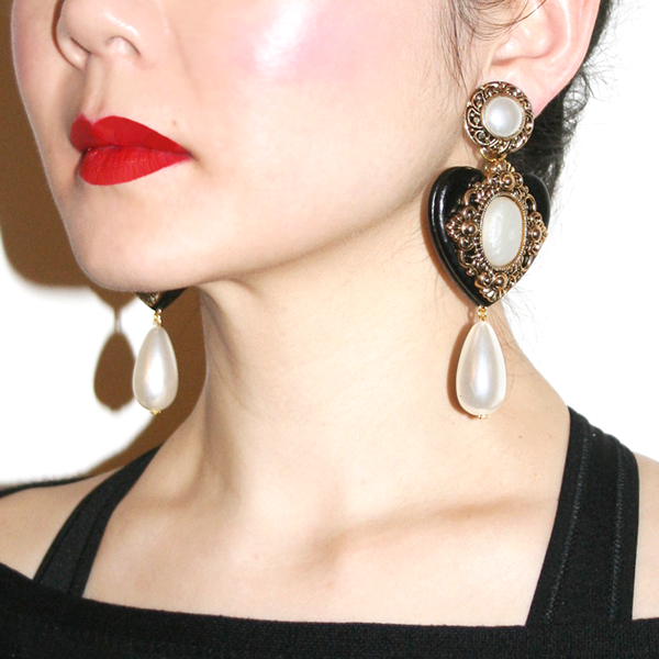 Black Cherish Earrings