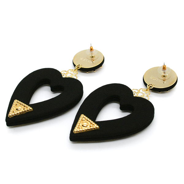 THE BLACK HEARTS EARRINGS