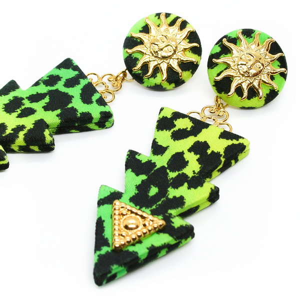 THUNDER LEOPARD EARRINGS