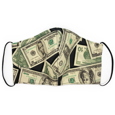 Dollar Bill Print Face Mask