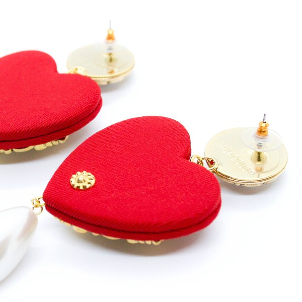 SCARLET CHERISH PEARL EARRINGS