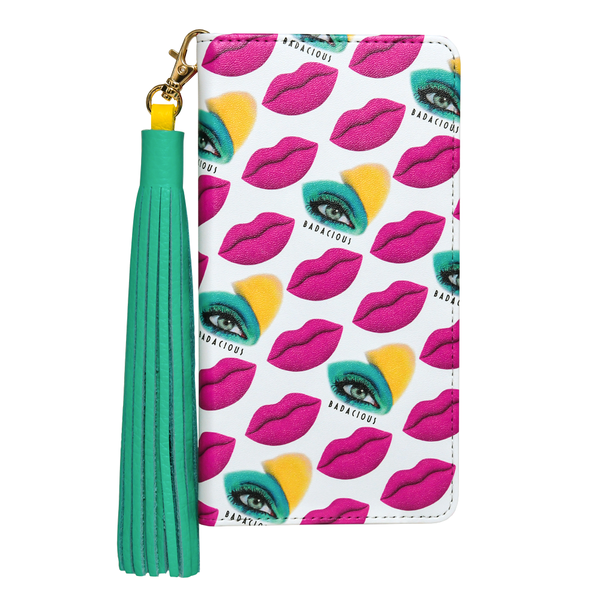 KISS KISS iPHONE CASE PINK (Wallet style)