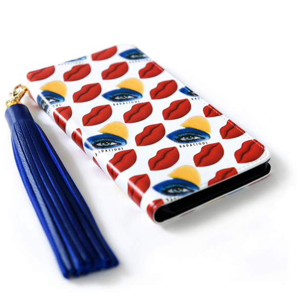 KISS KISS iPHONE CASE RED (Wallet style)