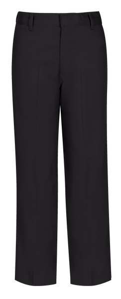 New Fit Husky Boys Flat Front Pant With Double Knee