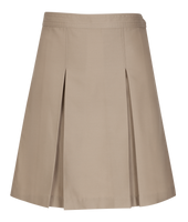 Longer Length Girls Plus Kick Pleat Skirt