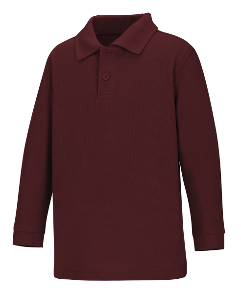 Old Fit Toddler Long Sleeve Pique Polo