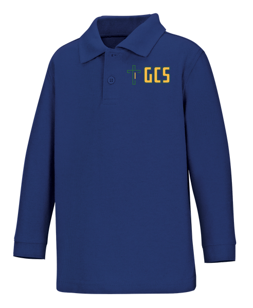 Discounted NEW LOGO Toddler Long Sleeve Pique Polo