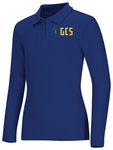 Discounted NEW LOGO Junior Long Sleeve Fitted Interlock Polo
