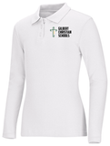 New Fit Girls Long Sleeve Fitted Interlock Polo