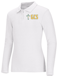 New Fit Junior Long Sleeve Fitted Interlock Polo