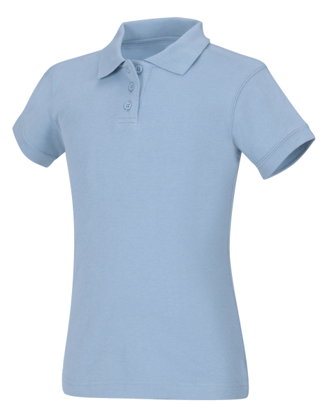 Discounted NEW LOGO Juniors Short Sleeve Fitted Interlock Polo