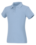 New Fit Juniors Short Sleeve Fitted Interlock Polo
