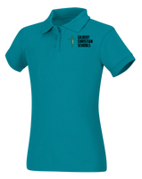 Juniors Short Sleeve Fitted Interlock Polo
