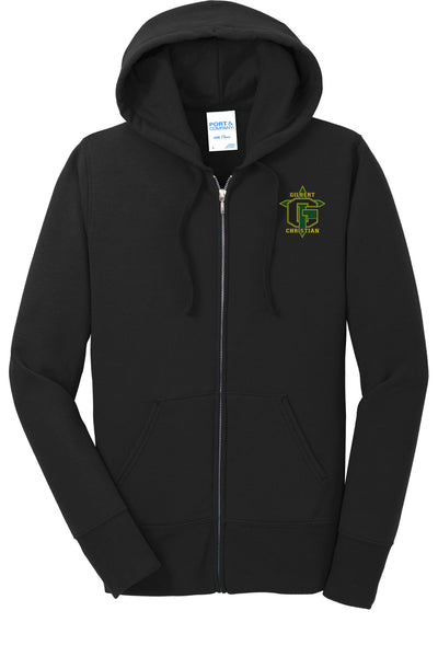 Discounted OLD LOGO Ladies Core Fleece Full-Zip Hooded Sweatshirt