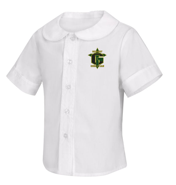 Discounted Toddler Short Sleeve Peter Pan Blouse