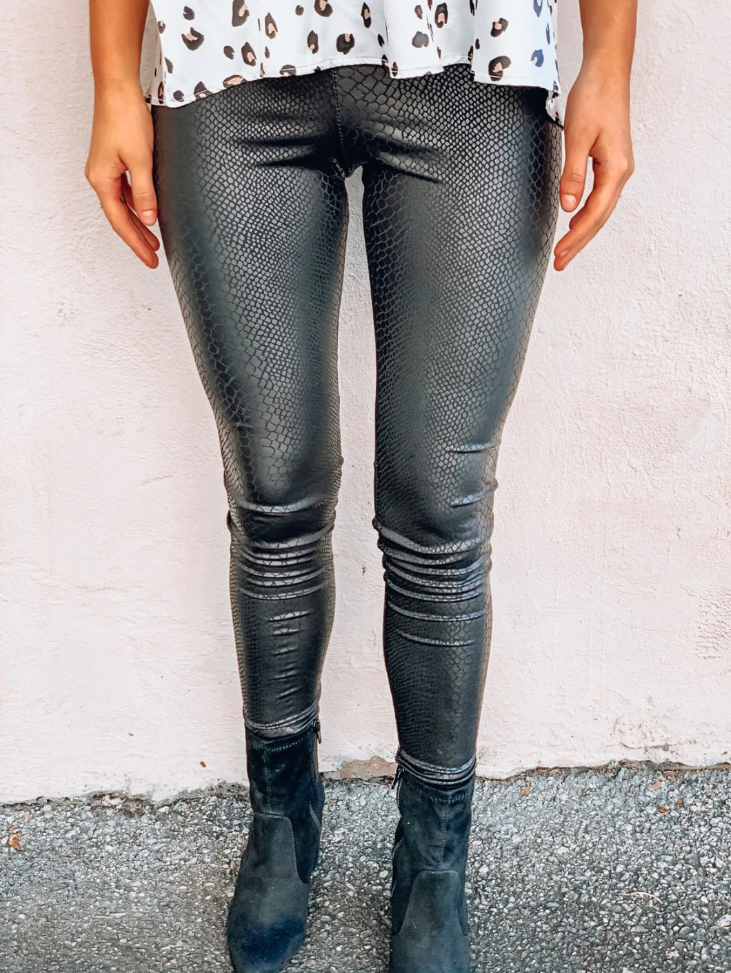 Snake Skin High Waist Leggings