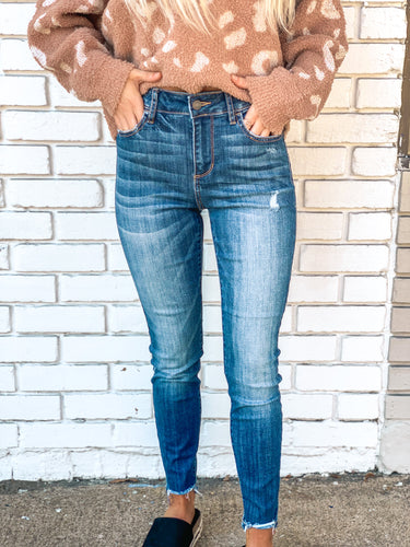 Cello Distress Crop Skinnies