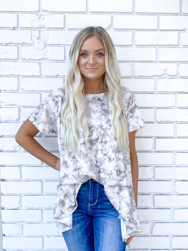 Tie Dyed SS Knit Top
