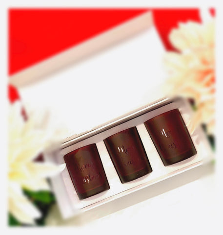 Merry Christmas 3 shot glass set