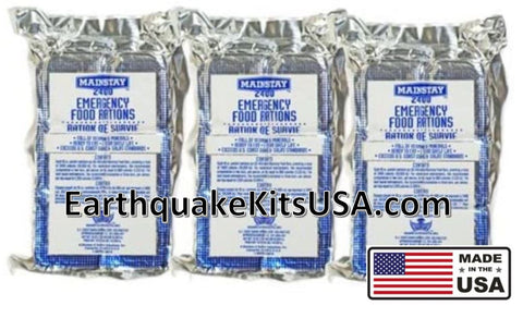 Mainstay emergency food ration 2400 calorie bar by SOS Food Lab, Made in the USA