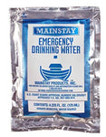 Emergency Water Pack -3 Days Survival Rations (6x4.2oz Pouches) 5 Year Shelf Life USCG Approved