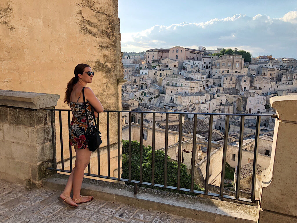 Julianna looking out over Matera