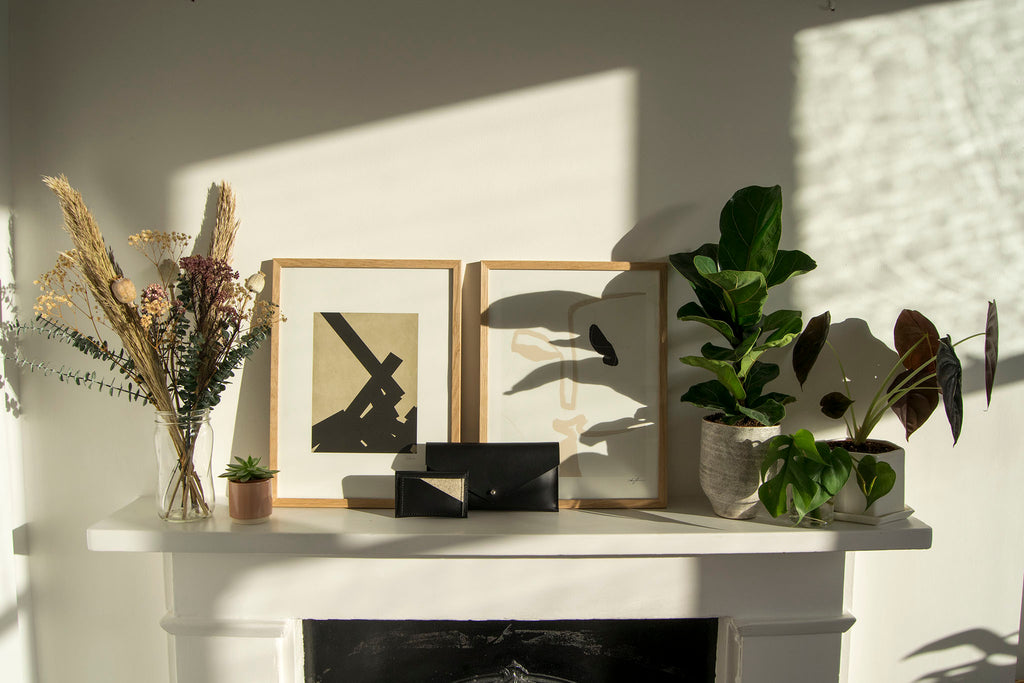Maragold Designs Clutch Wallet and Card Holder on Mantel