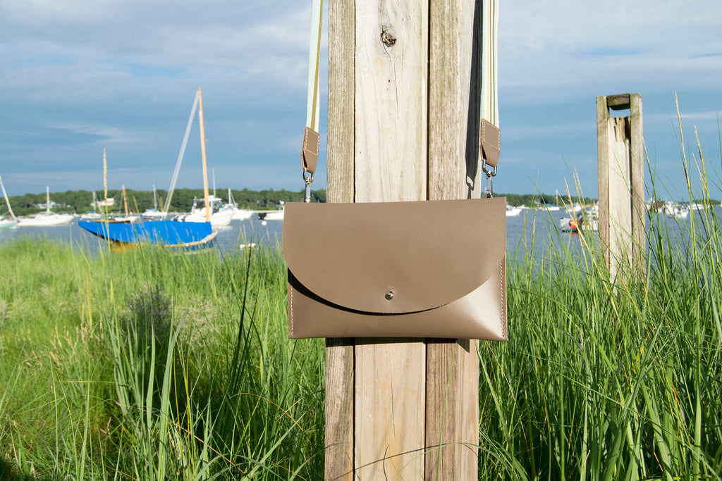 Leather Convertible Clutch on Post at Beach