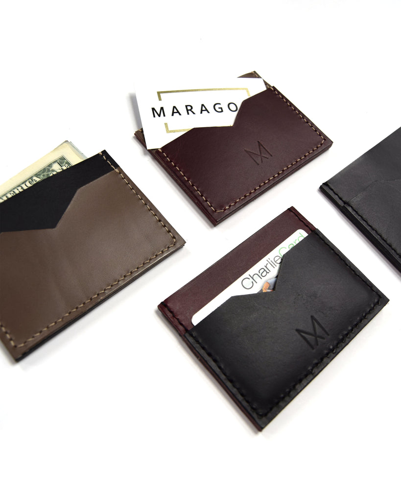Slim Leather Card Holders in All Four Colors