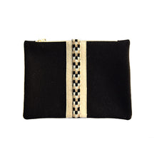Load image into Gallery viewer, Wool Zip Pouch in Classic Black