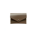 Load image into Gallery viewer, Geometric Leather Card Holder in Taupe