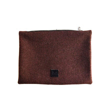 Load image into Gallery viewer, Wool Zip Pouch in Cherry