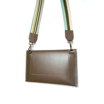 Load image into Gallery viewer, Leather Convertible Crossbody Clutch Bag